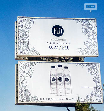 Flo water on the billboards of Greater Cairo