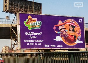 OOH campaign announces Fiesta Mexicana at Golf Porto Marina