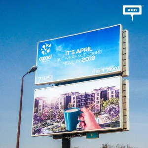"AZAD's April OOH campaign is not ""a joke"""