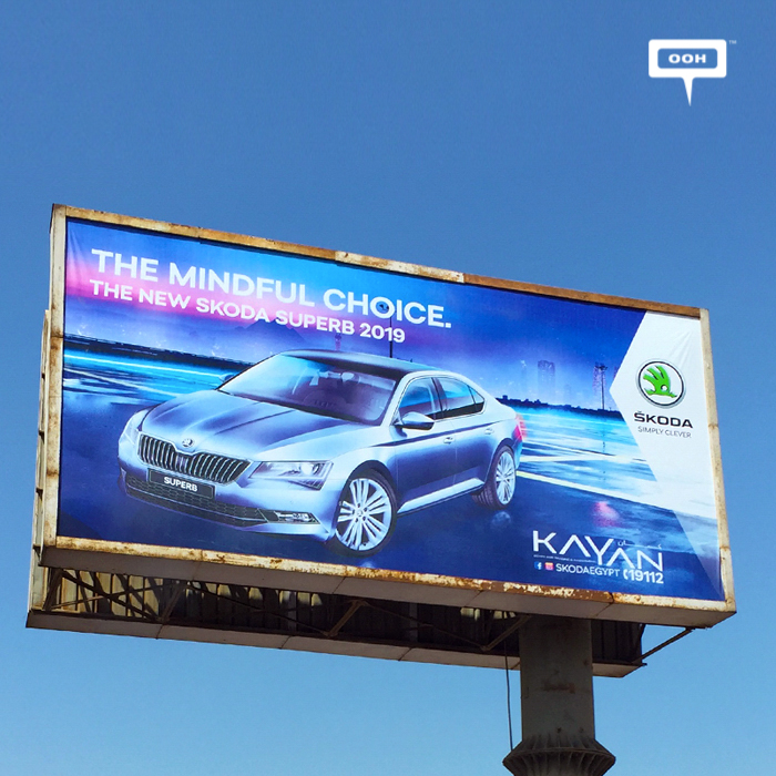 Skoda launches the new SUPERB 2019 with OOH