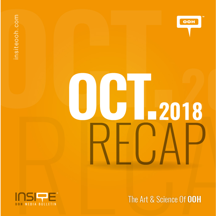 Ongoing OOH campaigns from top advertisers in October
