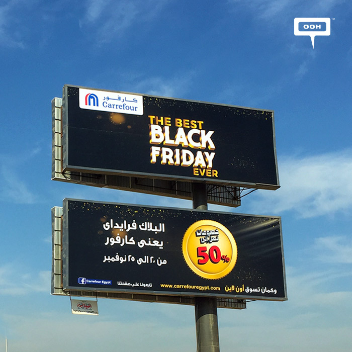 """Carrefour promises the """"Best Black Friday"""" on the billboards"""