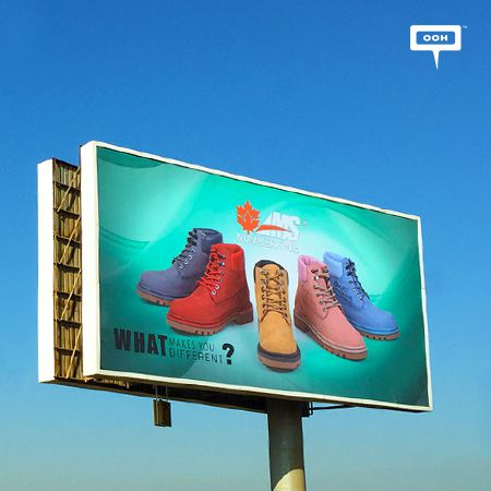 AMS presents new boots collection on the billboards