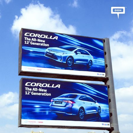 Toyota ignites the billboards with the all new Corolla