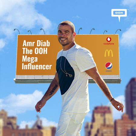 Amr Diab, the singing superstar becomes an OOH mega influencer