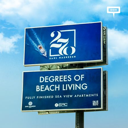 ERC presents 270 degrees of sea glam on an outdoor campaign