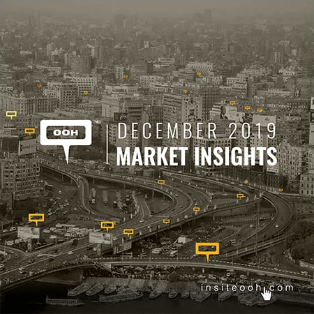 December shows lots of changes in the OOH market's industry occupancy