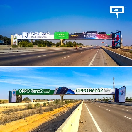 Displaying four years of innovation by OPPO & OUTSITE OOH on Cairo-Alex Road