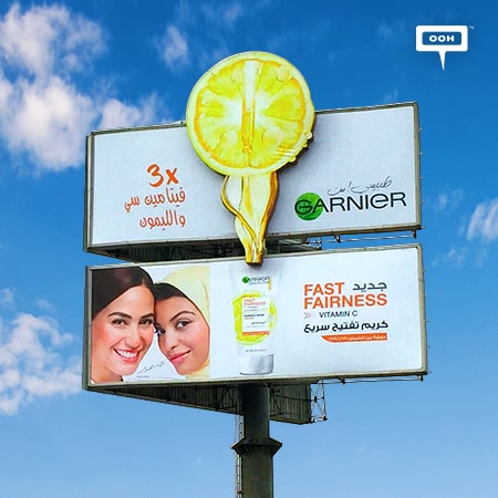 "Garnier shines on Cairo's billboards with ""Fast Fairness"""