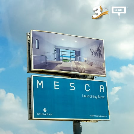 "MESCA is ""Launching now"" on the top of Cairo's billboards"