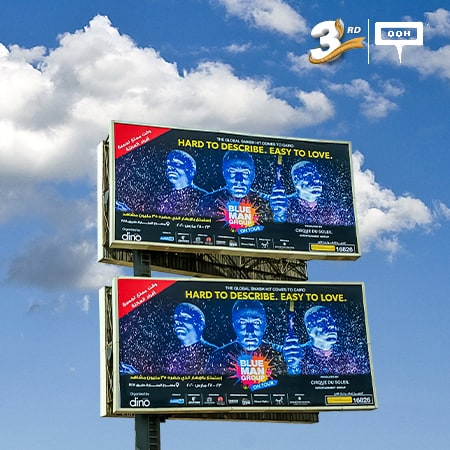 The global smash hit of the Blue Man Group comes to Cairo by Cirque du Soleil