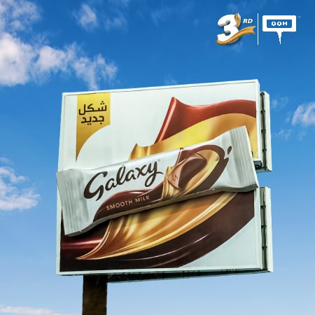 Galaxy is turning white on a huge rebranding OOH campaign