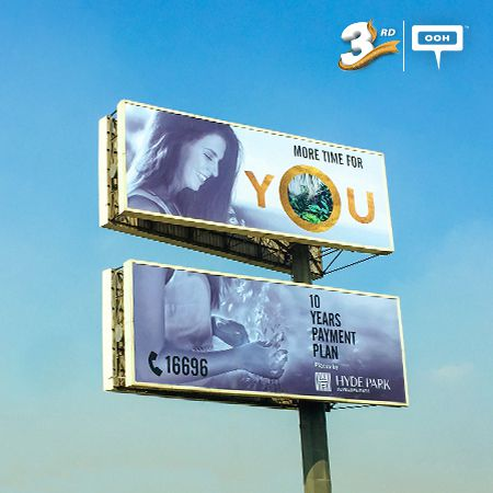 "Hyde Park is giving ""More time for you"" on Cairo's billboards"