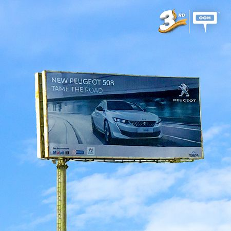 Peugeot introduces 508 & reinforces 5008 on the billboards of Cairo