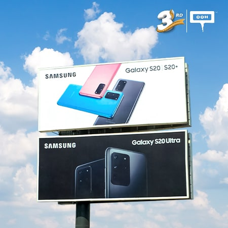The new Samsung S20 series is out on Cairo's billboards