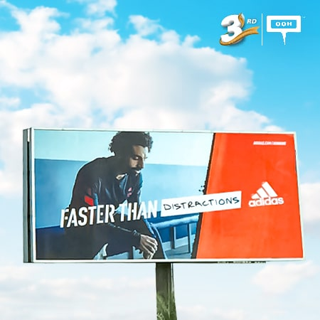 Adidas features Mo Salah on an OOH campaign for its new SL20