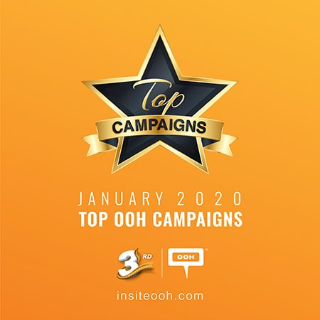 The OOH market welcomes the New Year with January's Top 20 Campaigns