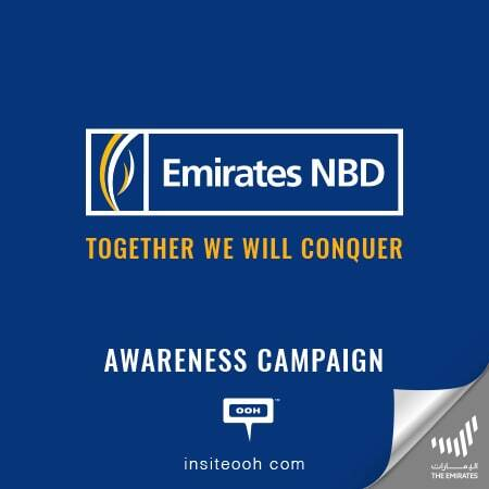 """Together we will conquer"" Emirates NBD pledges against COVID-19 on Dubai's billboards"