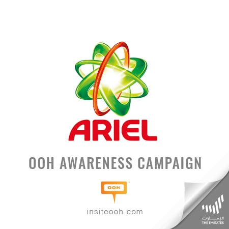 Ariel lands on Dubai's billboards to promote its original and new detergents' quality