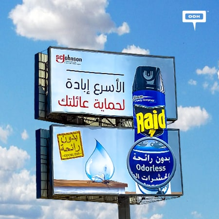 "Raid tops Cairo's billboards with its products ""To protect your family"""