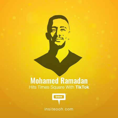 """Mohamed Ramadan hits Times Square to promote his latest single """"Tik Tok"""" directed by Hossam L Hossainy"""
