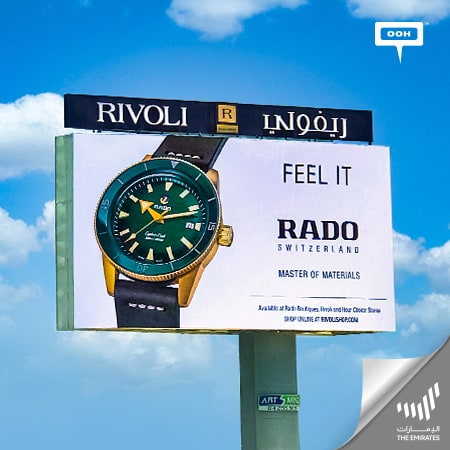 "The classic Swiss Rado rises on top of Dubai's roads to ""Feel it"""