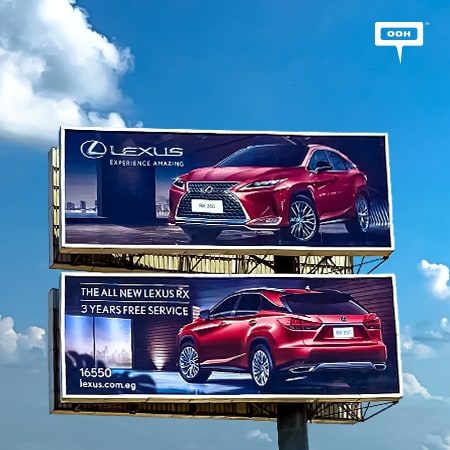 "The ""All new Lexus RX"" shows up on Cairo's billboards with ""3 years free service"""