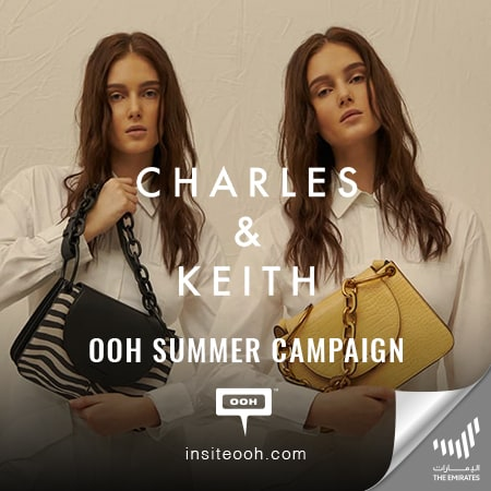 Charles & Keith appears on Dubai's billboards to display their unique summer bag