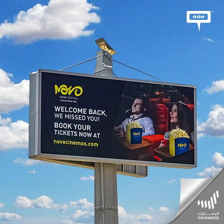Novo Cinemas welcome back the people of Emirates to the movies on an OOH campaign