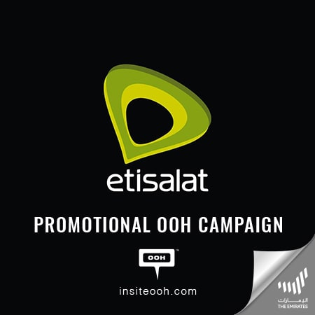 "Etisalat introduces the ""New Freedom Plans"" on the billboards of UAE"