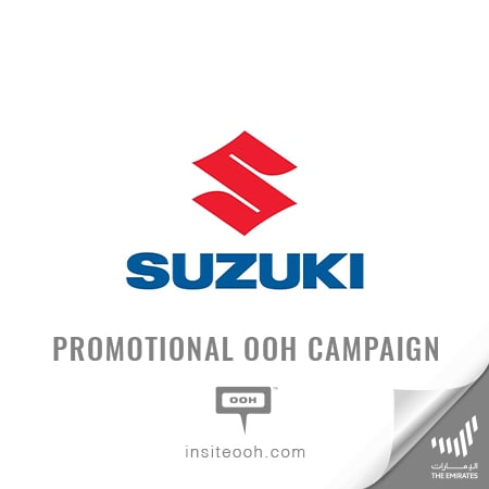 "Suzuki arrives at UAE's billboards to offer a ""1 Year Hassle Free"""