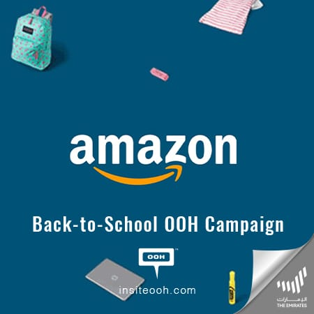 "Amazon is getting ready for school with a ""50% off"" on UAE's billboards"