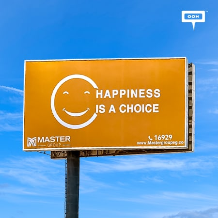 Master Group rises on Cairo's billboards to inspire and spread happiness