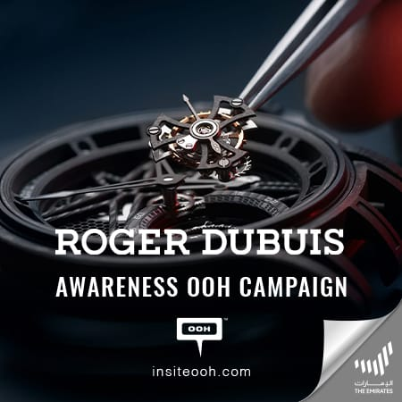 Roger Dubuis showcases its timepieces on Dubai's billboards