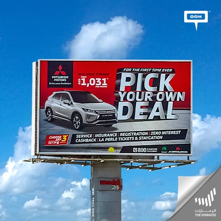 """Mitsubishi arrives at Dubai's billboards to invite you to """"Pick your own deal"""""""