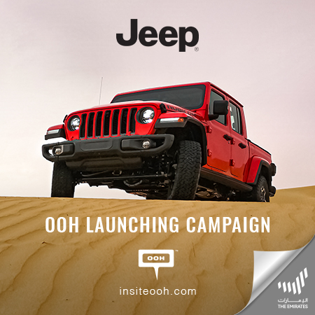 "Jeep presents the ""Only for the wildest"" Jeep Gladiator on Dubai's billboards"