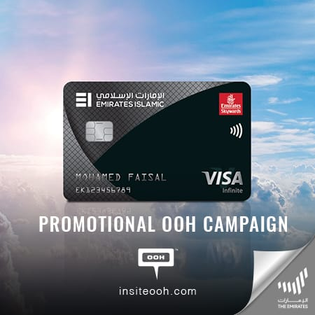 Emirates Islamic presents Skywards Black Card on an outdoor campaign