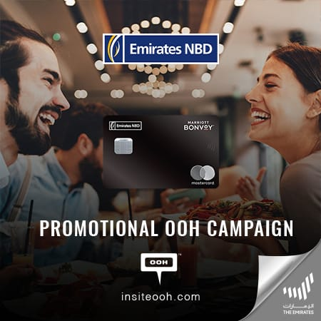 Emirates NBD showcases its Marriot Bonvoy Credit Card's privileges on Dubai's billboards