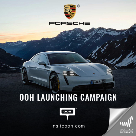 Porsche introduces the Taycan Turbo S to Dubai's billboards with an OOH ad