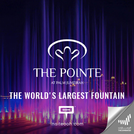 """The Pointe hypes up the audience with """"The world's largest fountain"""" on Dubai's billboards"""