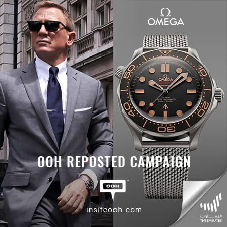 Rivoli Group reinforces Omega's unique Seamaster on Dubai's billboards