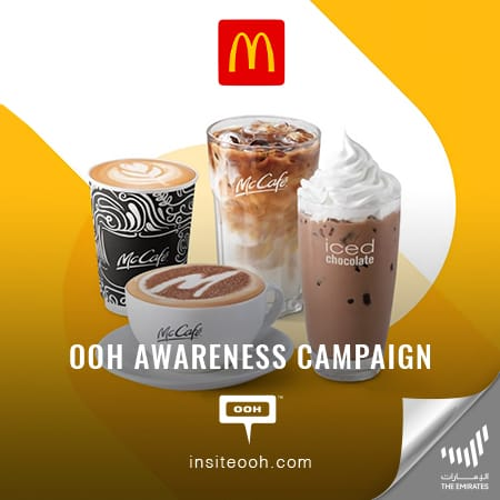 "McDonald's UAE serves ""Great coffee. Simple"" in an OOH campaign for McCafé"