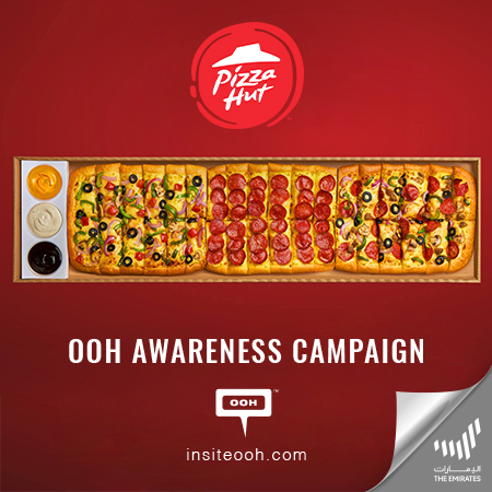 "Pizza Hut offers ""One meter pizza fun"" on Dubai's billboards with Limo Box"