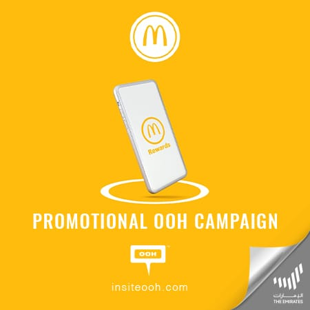 McDonald's introduces its new rewards program on Dubai's billboards