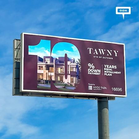 Hyde Park Developments promotes Tawny on Cairo's billboards