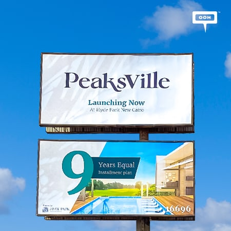 "Hyde Park announces PeaksVille is ""Launching soon"" on an OOH campaign"