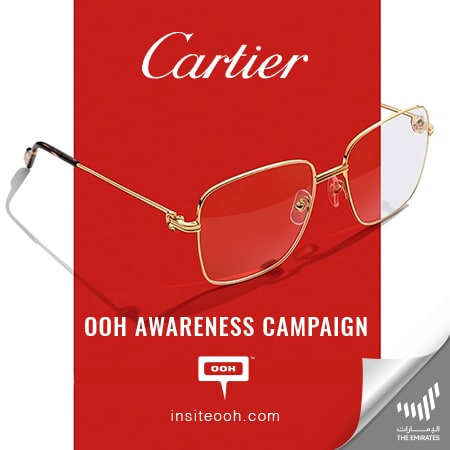 Cartier climbs Dubai's billboards to bring its new eyewear collection