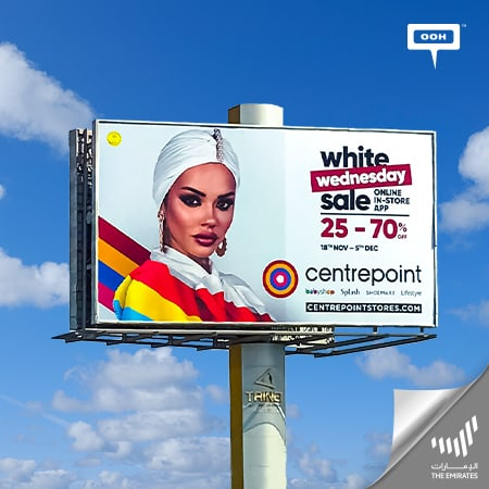 """White Wednesday Sale"" of Centrepoint arrives at The Emirates' billboards"