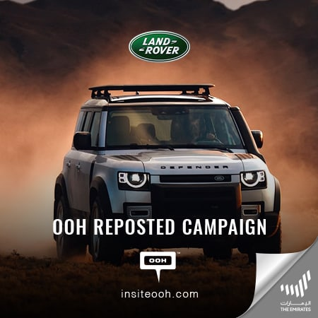 Al Tayer Motors returns with the Land Rover Defender on Dubai's billboards