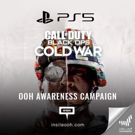 Sony announces the new Call of Duty with PS5 on Dubai's billboards